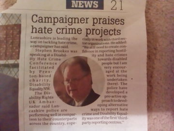 Tacking Hate Crime – Lancashire Leads the Way